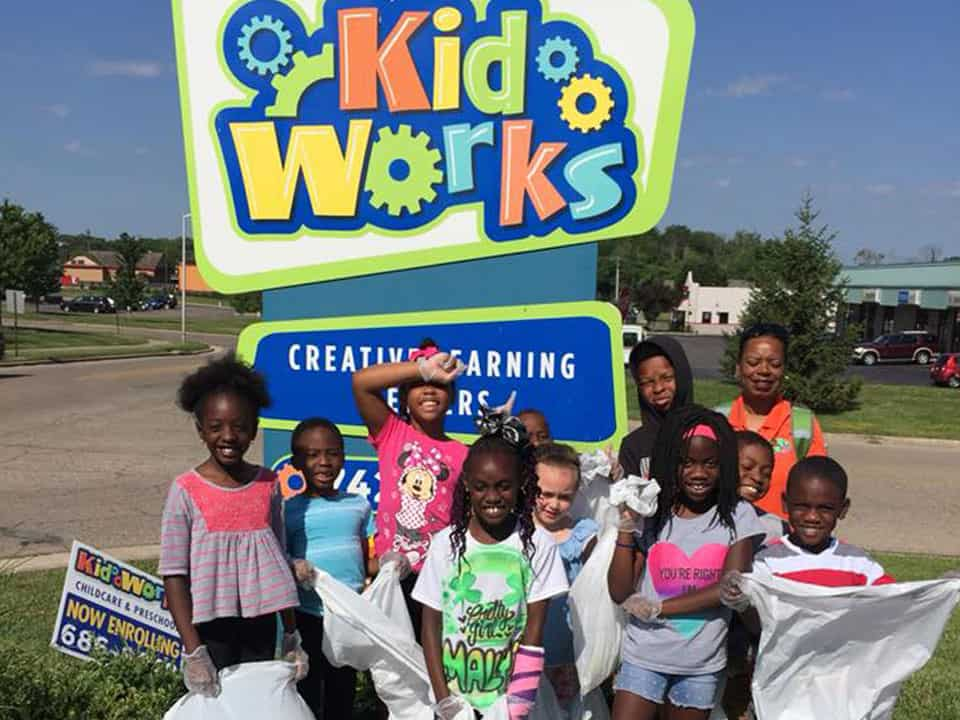 Kids at Kids Works Creative Learning Center in Forest Park, OH