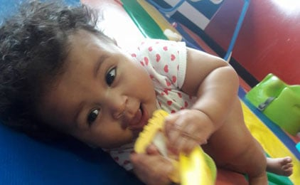 infant at childcare center